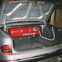 ГБО на ГАЗ Волга – баллон с газом в багажнике